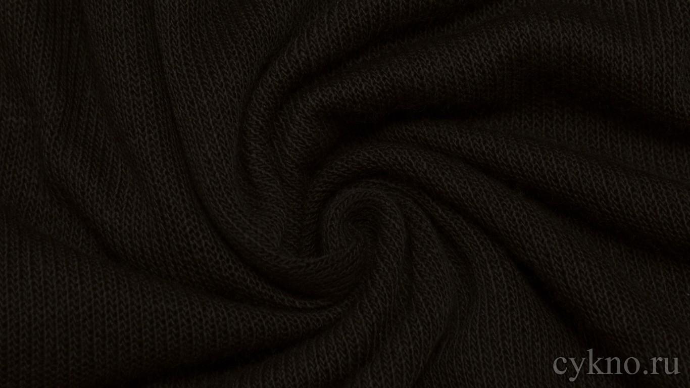 """Ткань Трикотаж вязаный цвета """"Темный шоколад"""""""