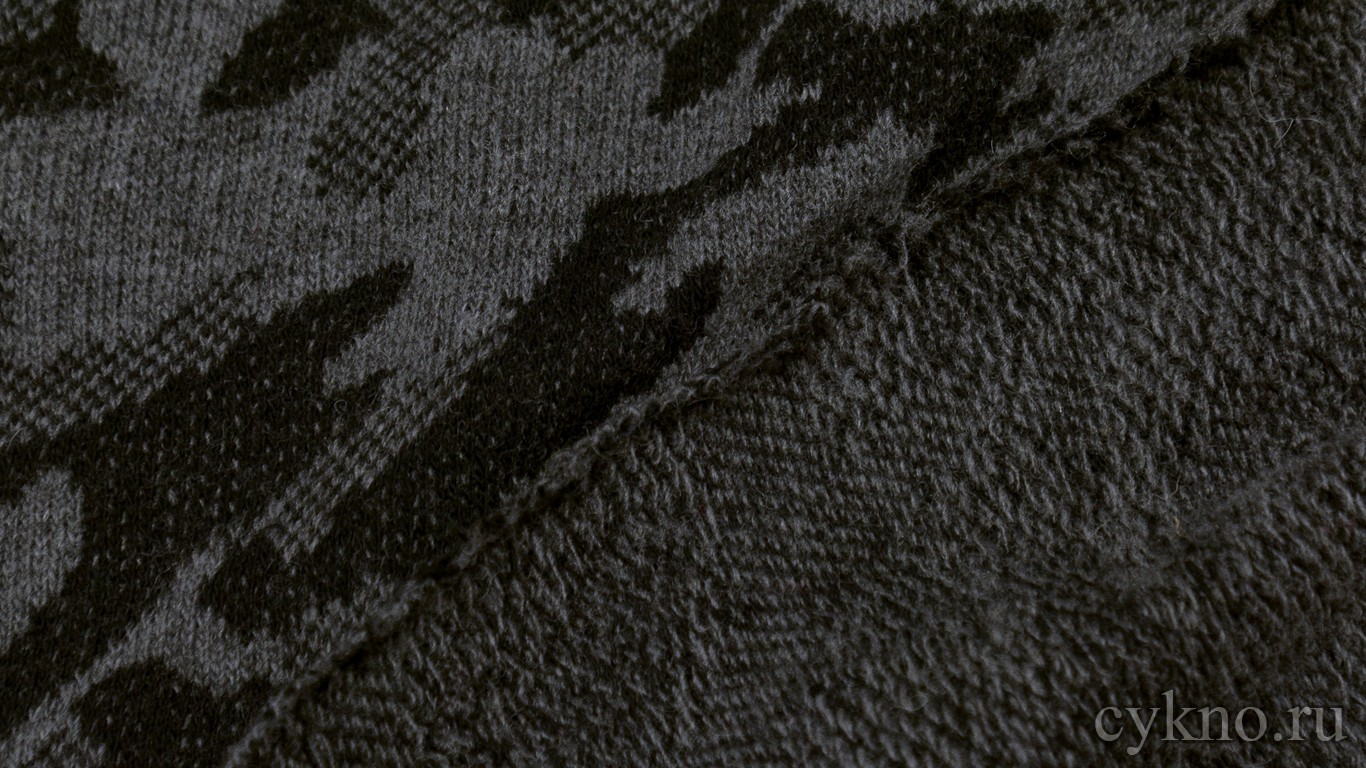 """Ткань Трикотаж вязаный в стиле """"Камуфляж"""""""