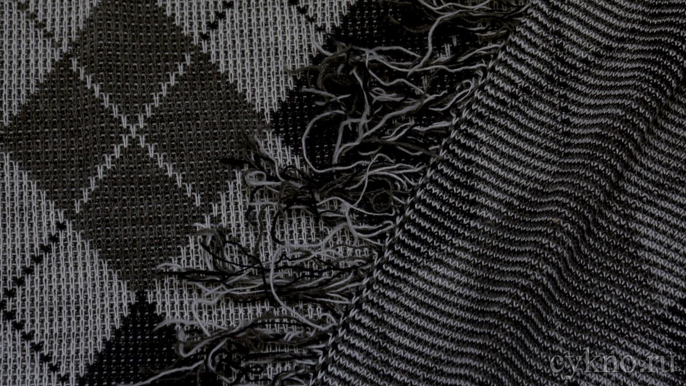 """Ткань Трикотаж вязаный в серых тонах с узором """"Ромбы"""""""