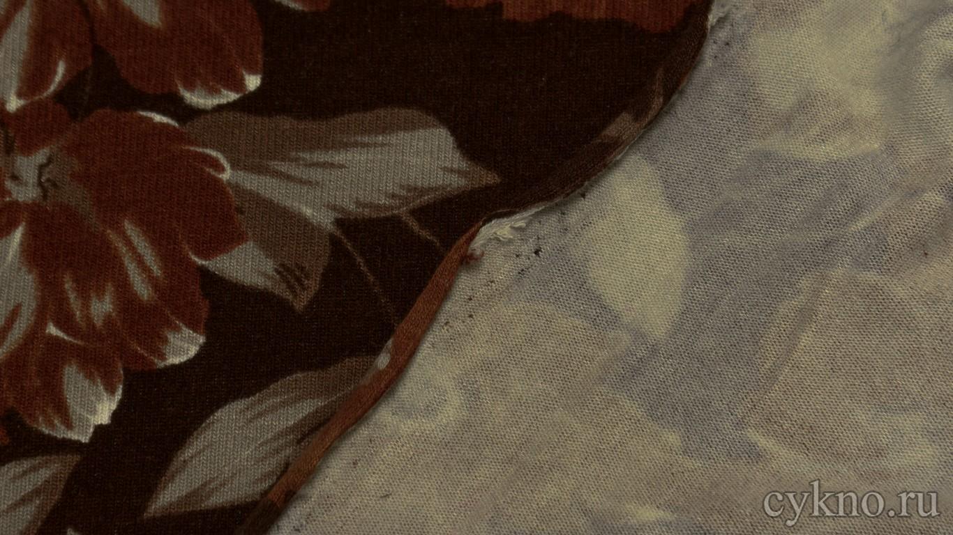 """Ткань Трикотаж вискозный в коричневых тонах """"Чермес"""""""