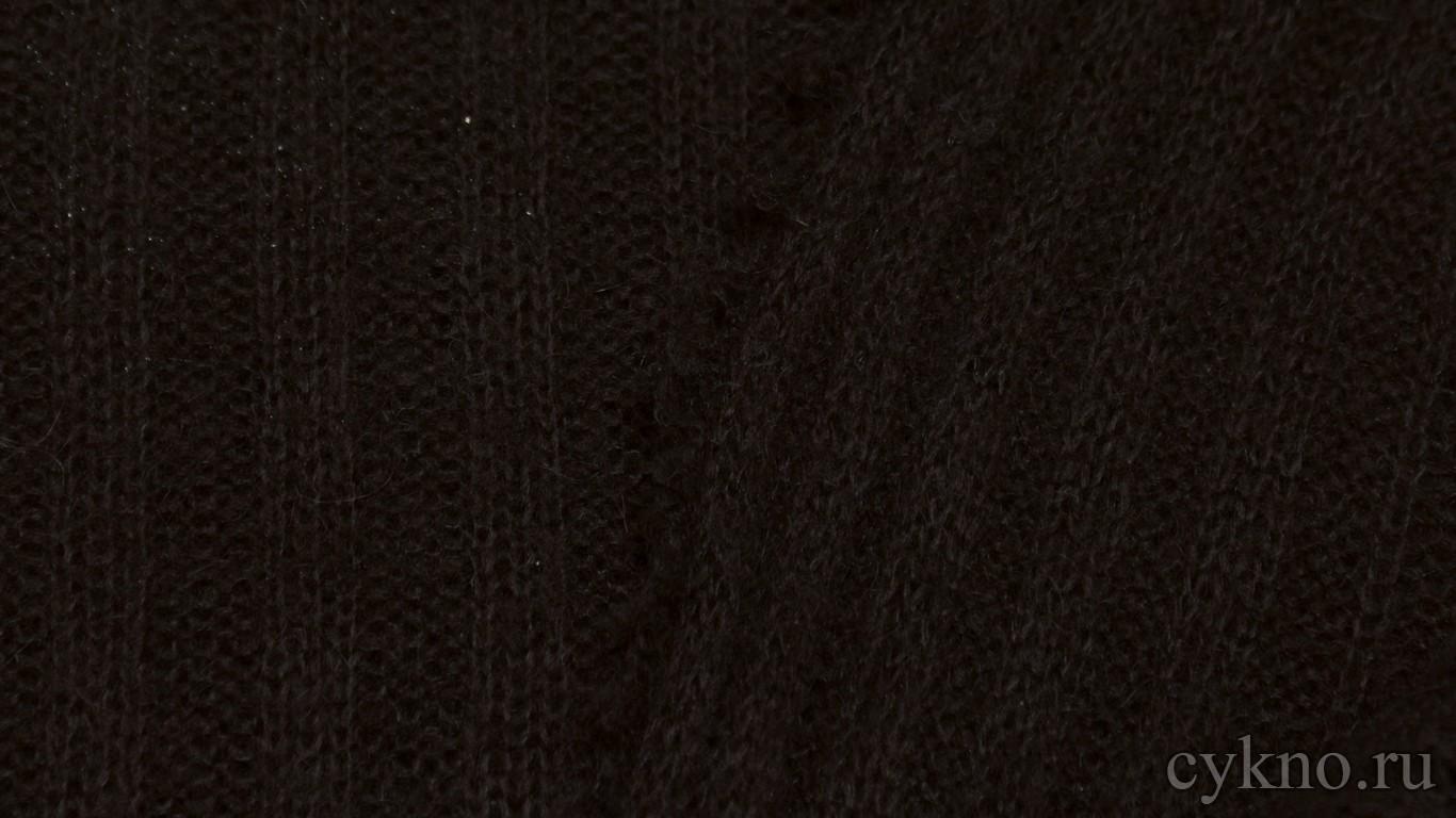 Ткань Трикотаж вязаный коричневый с добавлением шерсти