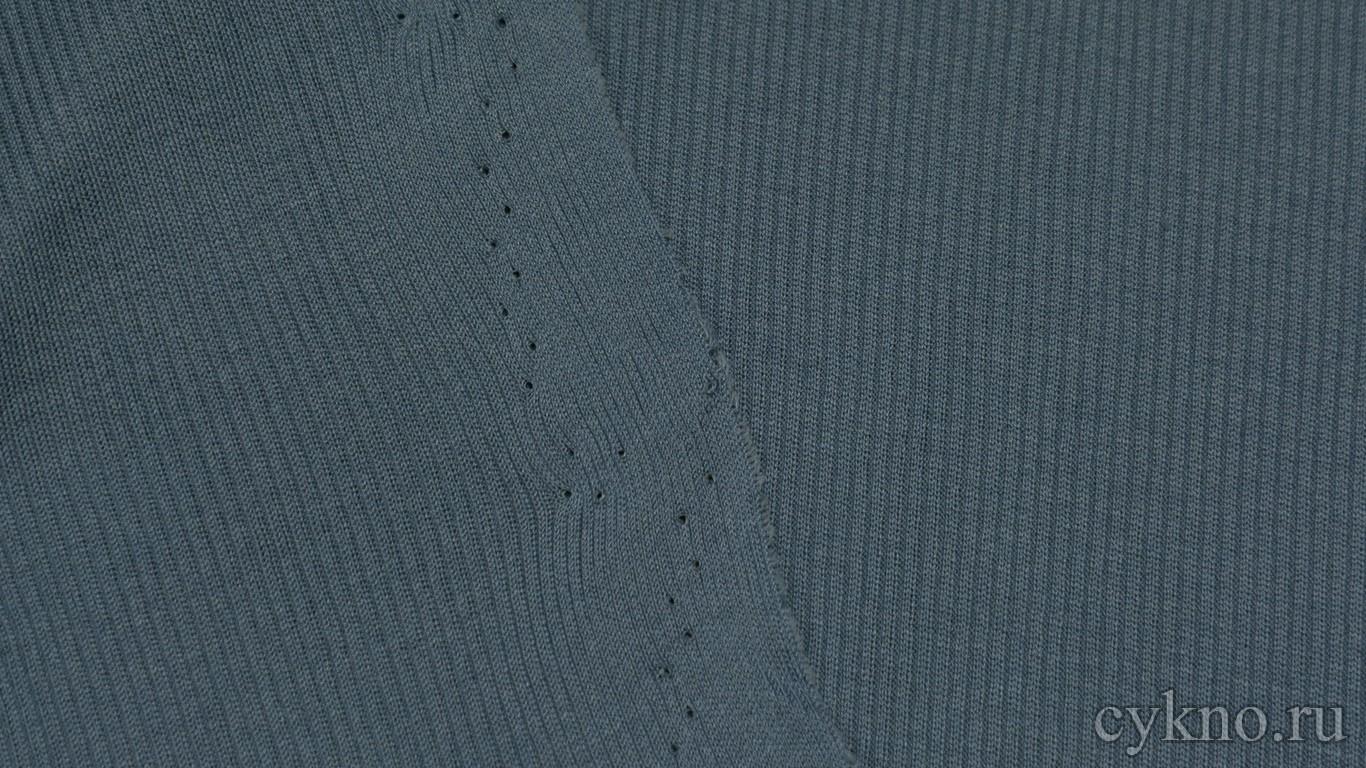 Ткань Трикотаж вискозный аристократичного синего цвета