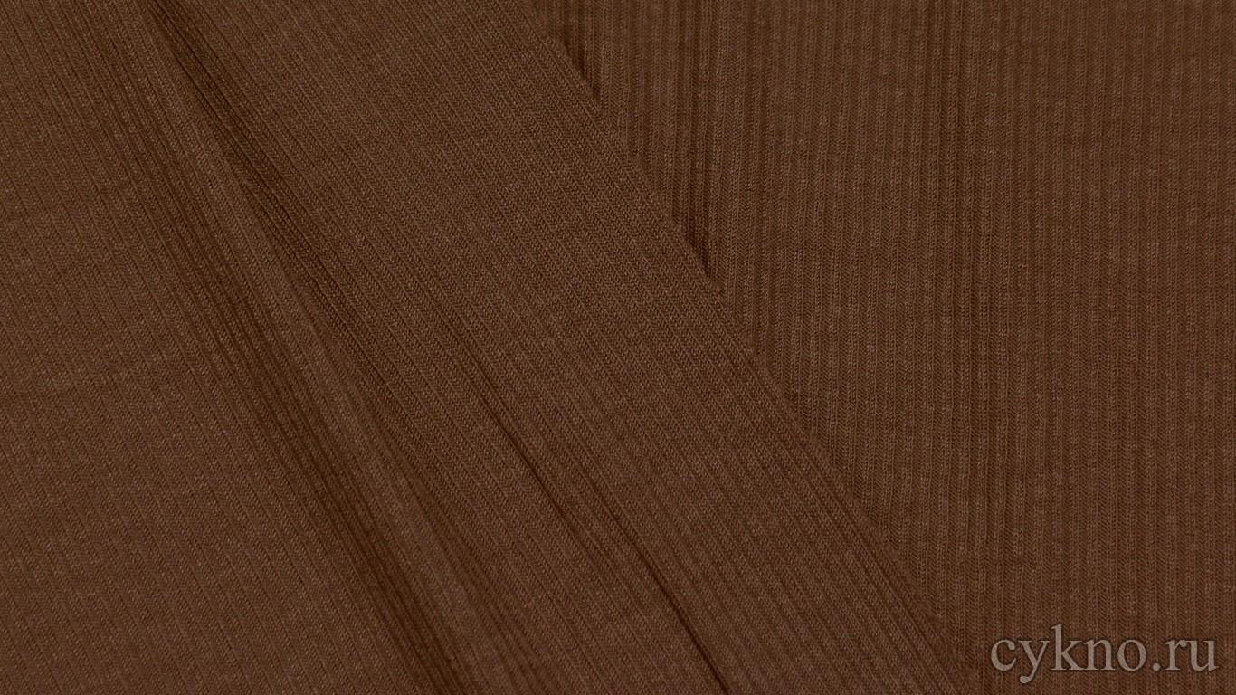 "Ткань Трикотаж вискозный бурого цвета ""Калабрия"""