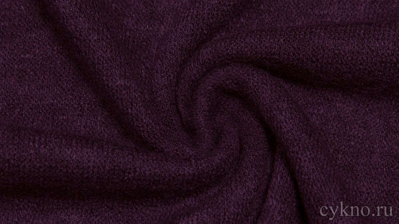 Ткань Трикотаж вязаный фиолетового цвета