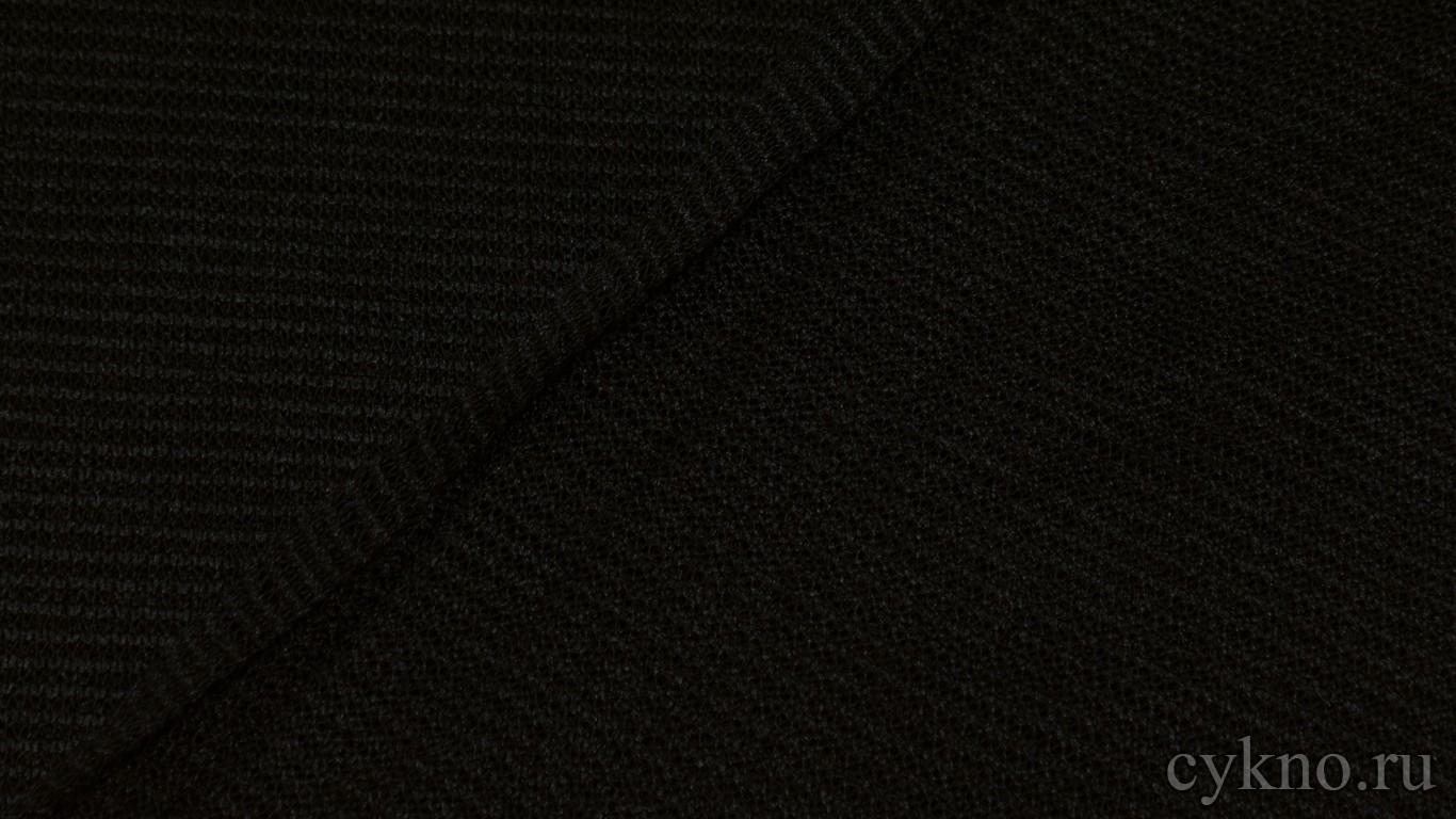 "Ткань Трикотаж черный ""Монига"""