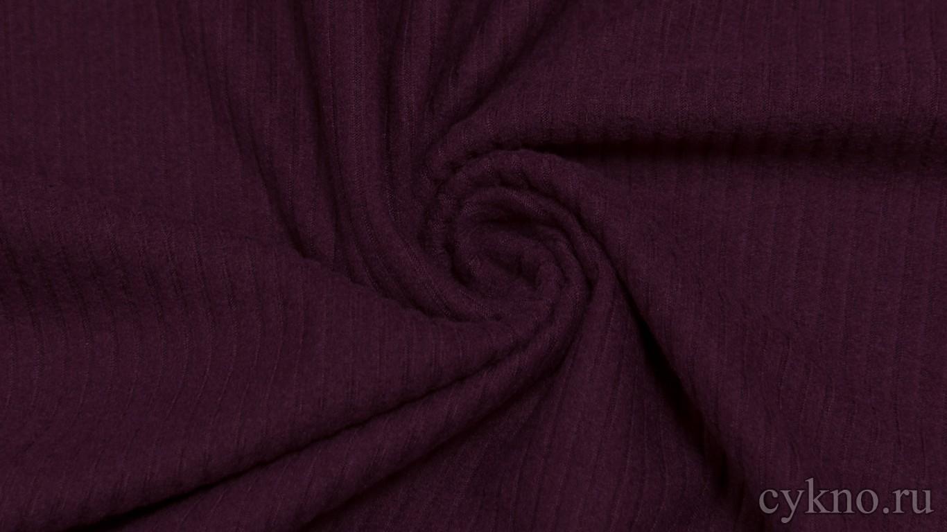 Ткань Трикотаж смесовый сливового цвета