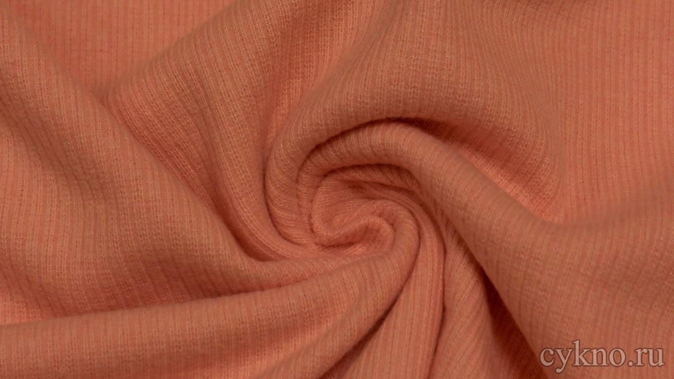 """Ткань Трикотаж лососевого цвета """"Мира"""""""