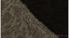 Ткань Жаккардовый Трикотаж черный крэш