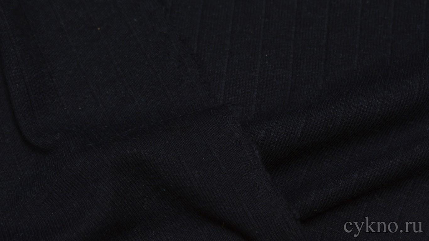 Ткань Трикотаж темно-синий однотонный