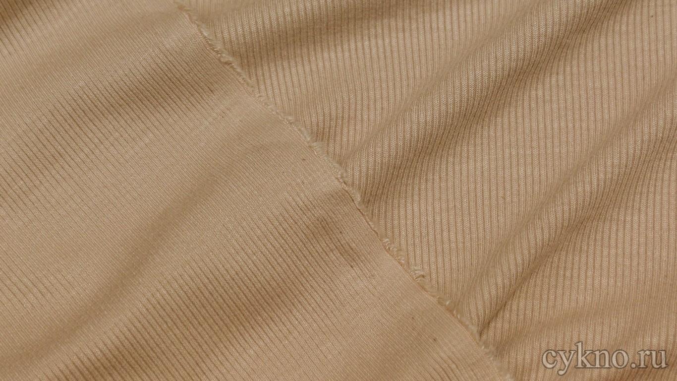 Ткань Трикотаж хлопковый песочного цвета