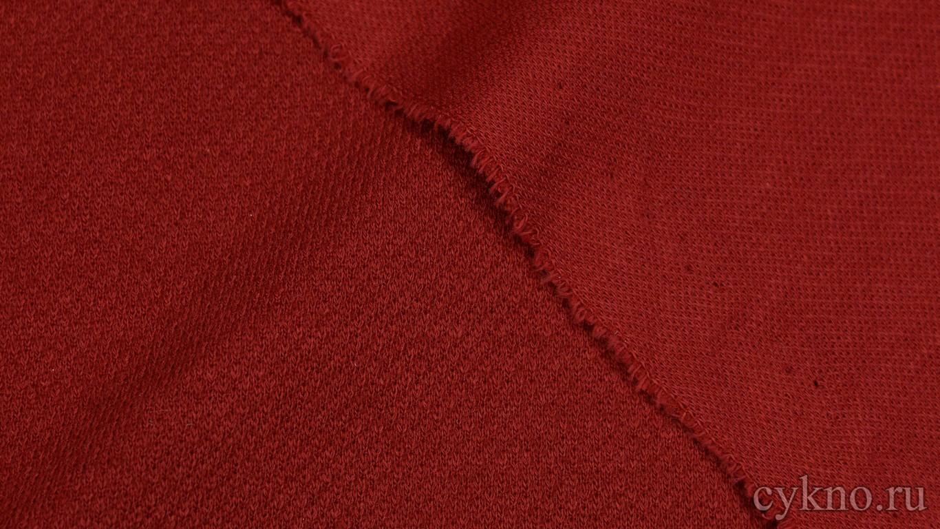Ткань Трикотаж Темно-красная