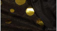 Ткань Трикотаж Черно-желтая