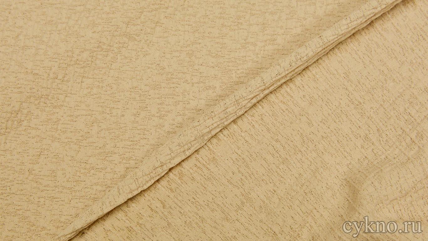 Трикотаж креп светло-пшеничного оттенка