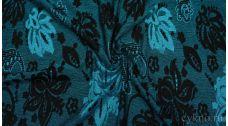 Ткань Трикотаж Черно-синяя
