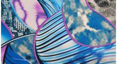 """Ткань Трикотаж с абстрактным узором """"Рикади"""""""