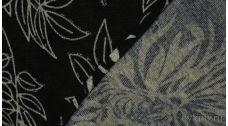 Ткань Трикотаж Серо-черная