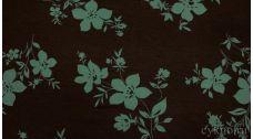 Ткань Трикотаж Коричнево-голубой