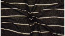 Ткань Трикотаж Черная в полоску