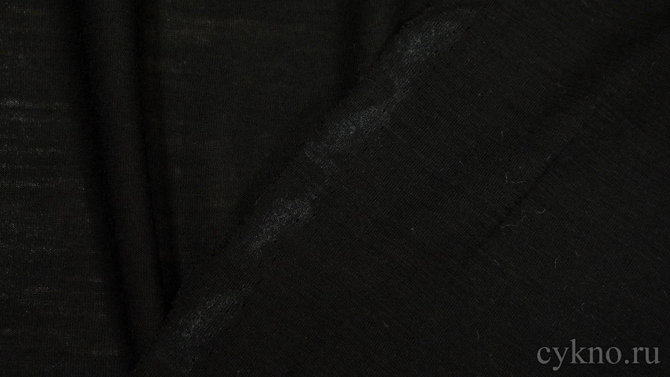 """Ткань Трикотаж Черная """"Винчи"""""""