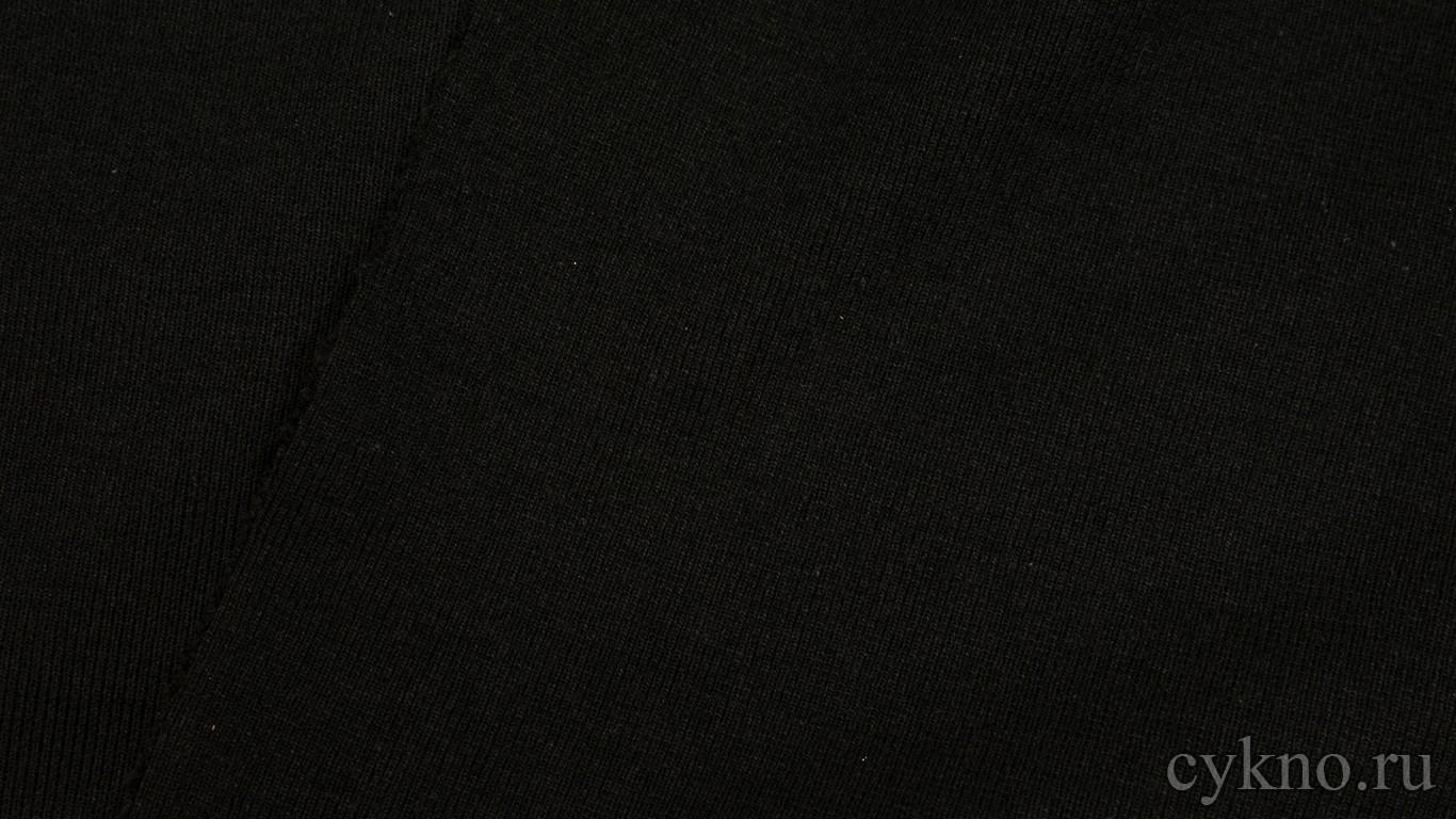 """Ткань Трикотаж насыщенного черного цвета """"Асти"""""""
