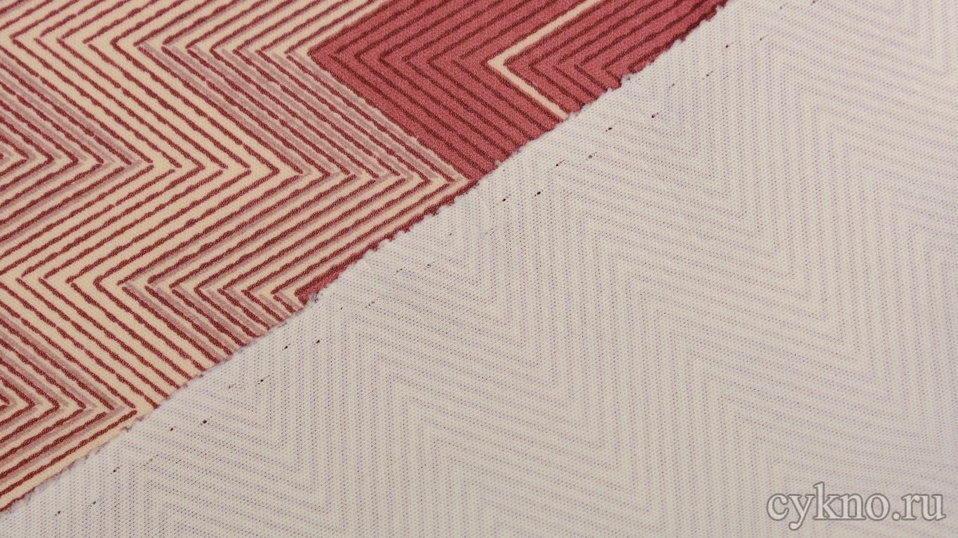 Ткань Трикотаж с ярким геометрическим узором