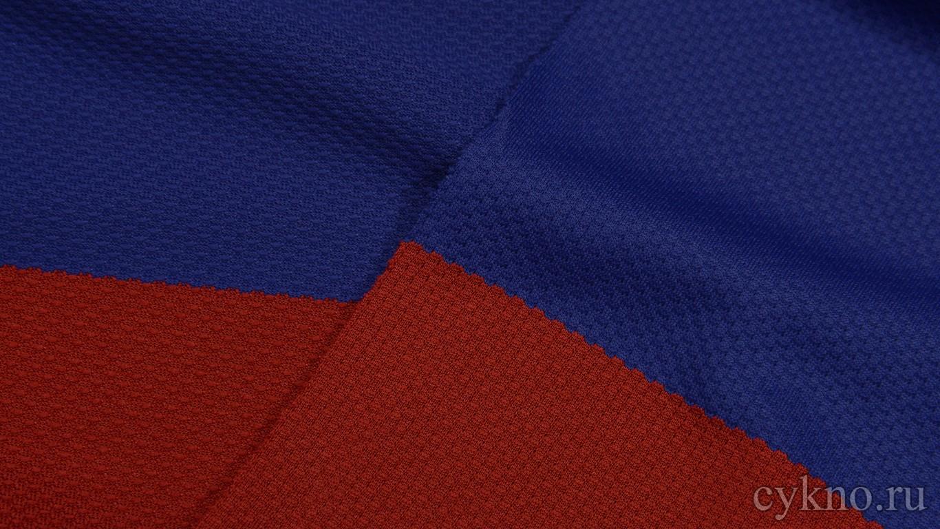 Ткань Трикотаж Красно-синяя