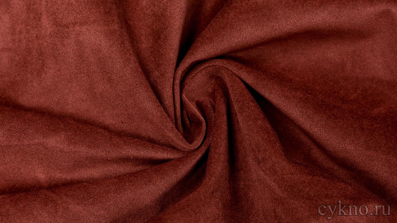 Ткань Замша Бордовая