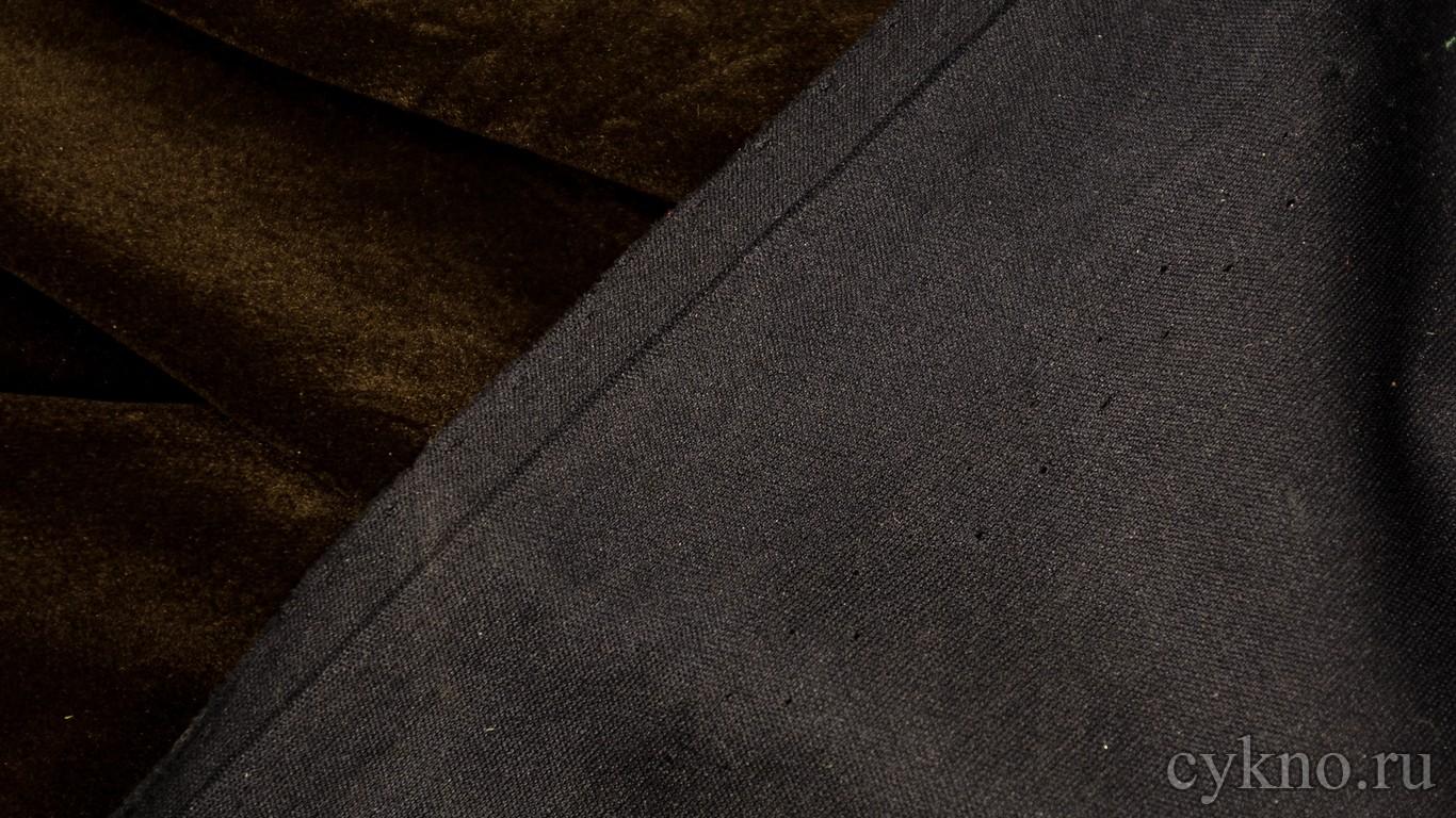 Ткань Замша Темно-оливковая
