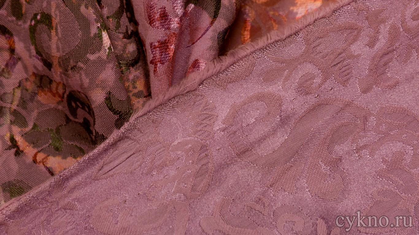 "Ткань Жаккард ""Темно-серая мальва"""