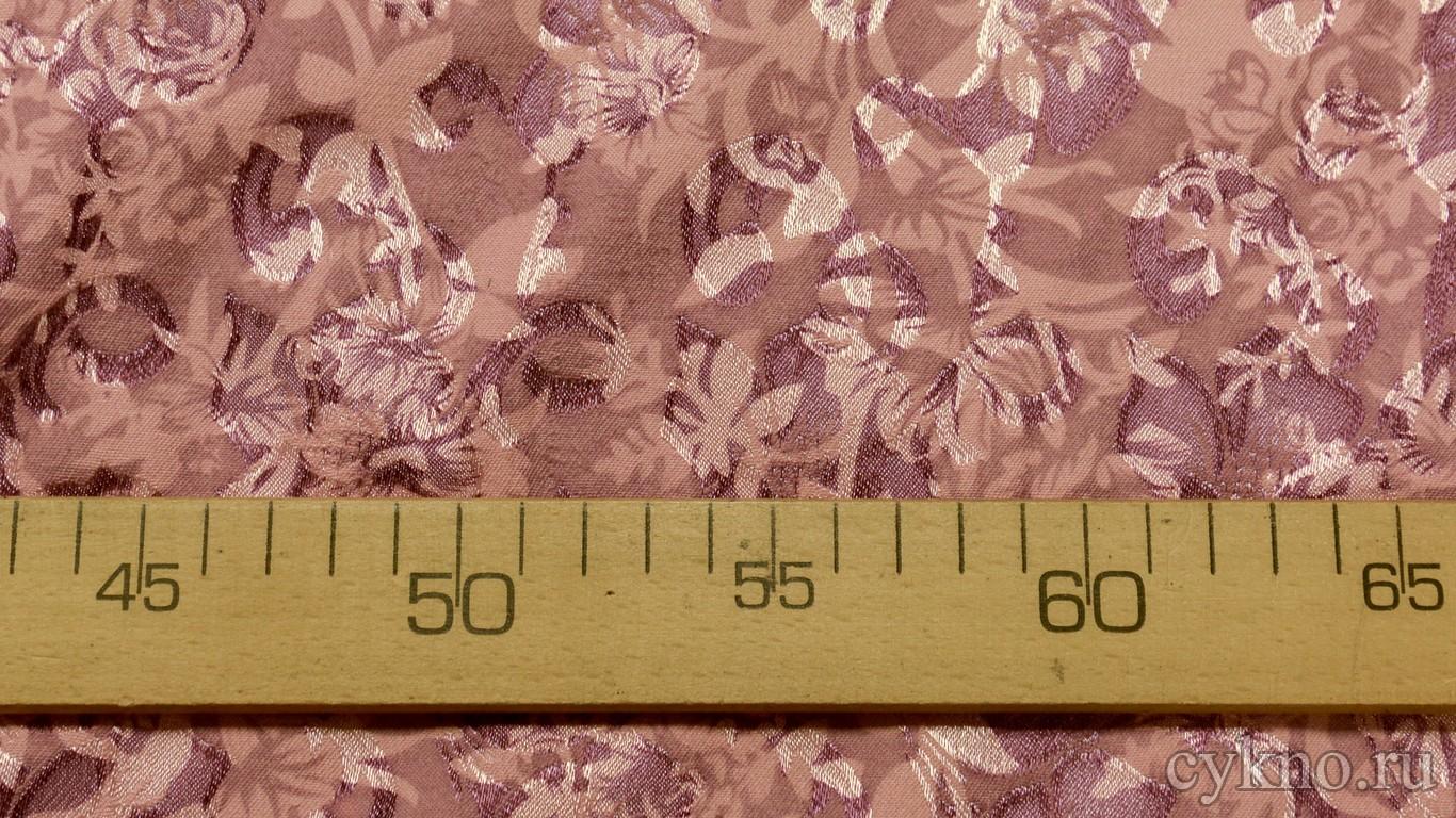 Ткань Жаккард медно-розовый