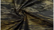 """Ткань Жаккард """"Золото на черном"""""""