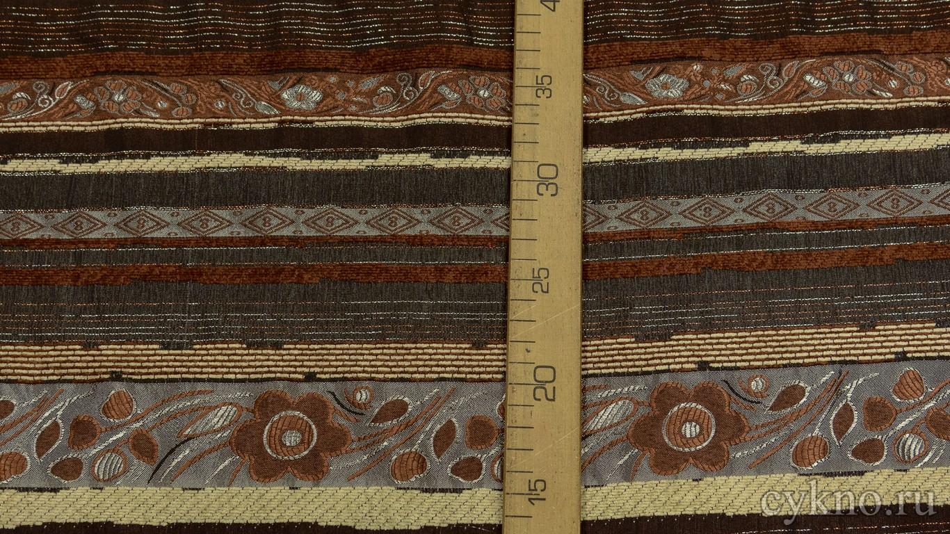 Ткань Жаккард Хлопковый с комбинированным рисунком