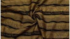 Ткань Жаккард Хлопковый Черно-коричневый