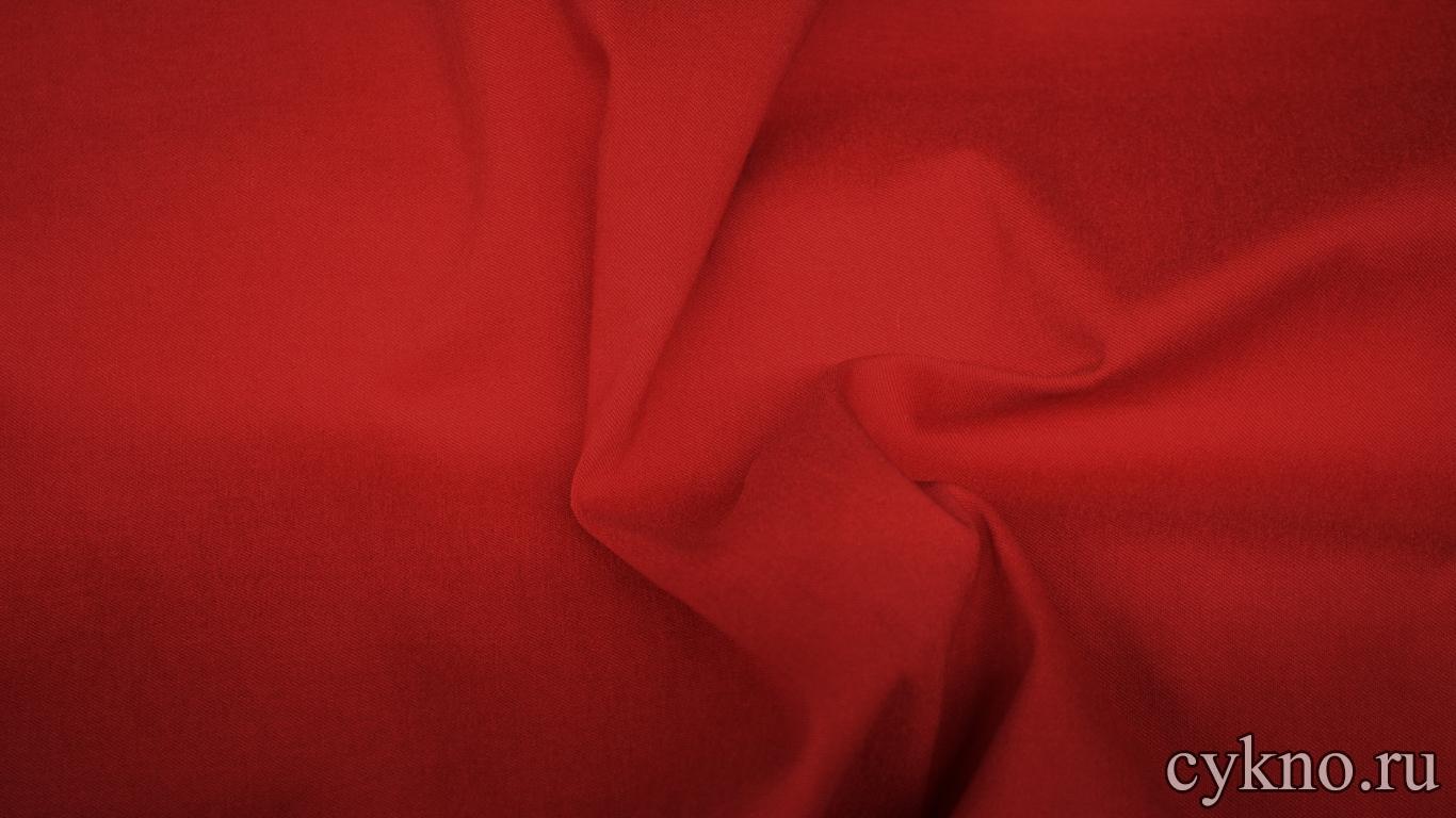 Вискоза костюмная красная