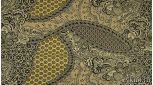 Вискоза костюмная с узором огурец