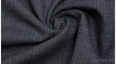 Шерсть Костюмная серо-синяя в полоску