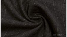 Шерсть Костюмная темно-серая в белую полоску