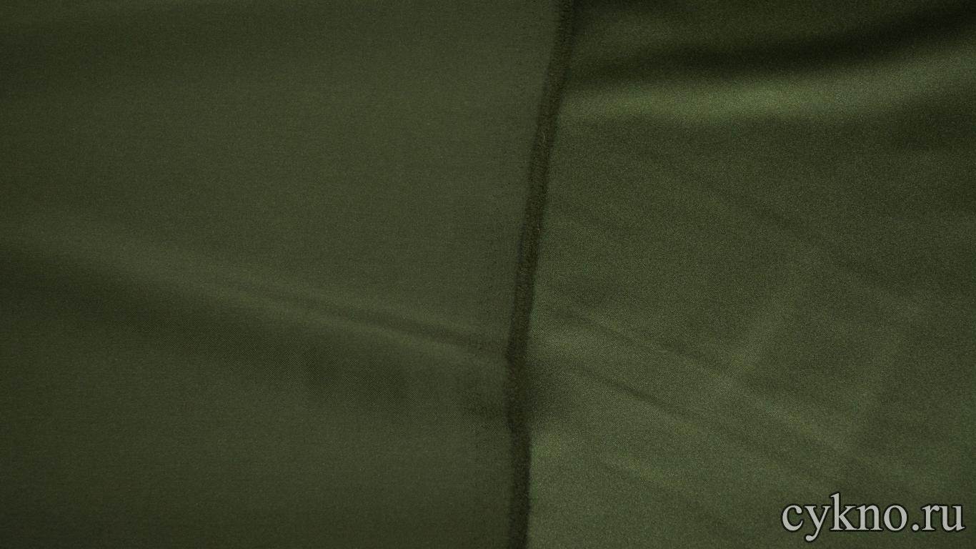 Костюмная ткань болотно-зеленая